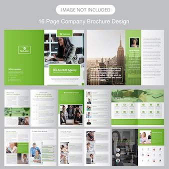 Modelo de brochura - perfil da empresa
