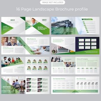 Modelo de brochura - perfil de empresa de paisagem