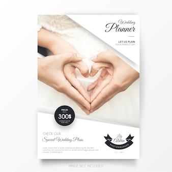 Modelo de brochura - planejador de casamento