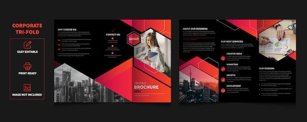 Modelo de brochura - serviços empresariais com três dobras