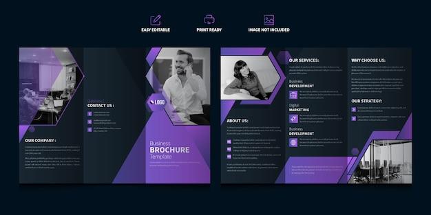 Modelo de brochura - três dobras de negócios corporativos