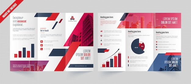Modelo de brochura - três dobras de negócios