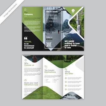 Modelo de brochura - três dobras de viagem