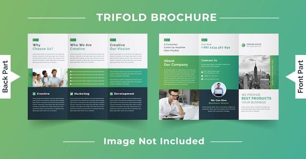 Modelo de brochura - três dobras