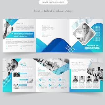 Modelo de brochura - tríplice quadrado