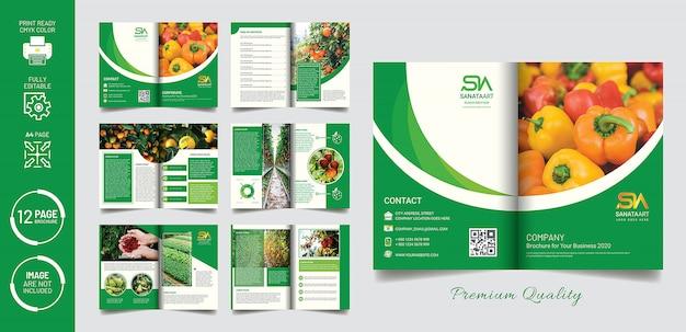 Modelo de brochura - vegetal verde mínimo