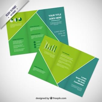 Modelo de brochura verde