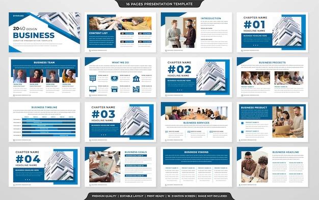 Modelo de business powerpoint estilo premium