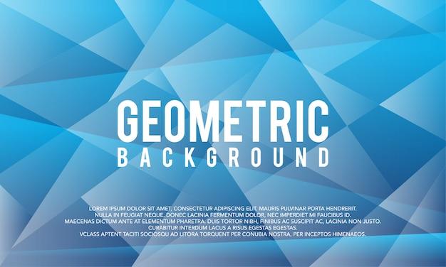Modelo de c moderno fundo gradiente abstrato azul poligonal gelo geométrico