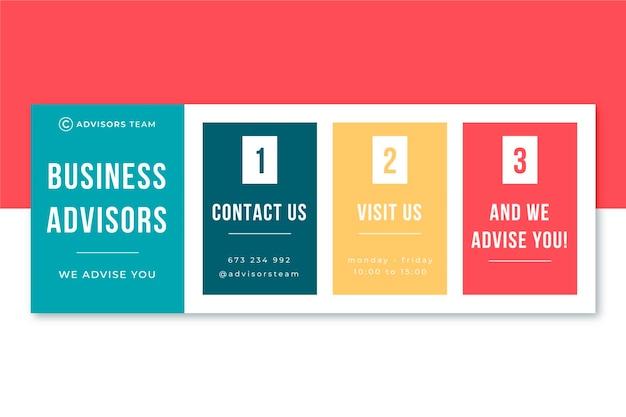 Modelo de cabeçalho de blog de consultores de negócios