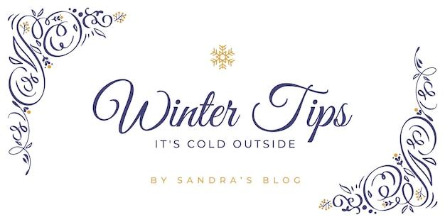 Modelo de cabeçalho de blog ornamental de inverno