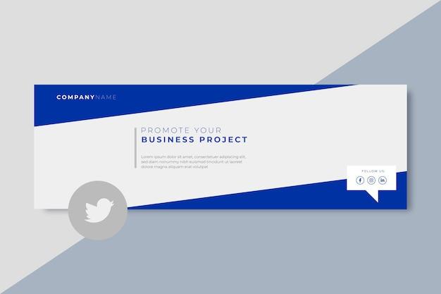 Modelo de cabeçalho do twitter empresarial
