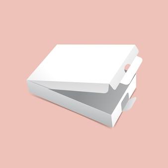 Modelo de caixa de embalagem virada
