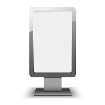 Modelo de caixa de luz de cidade em branco. outdoor em branco e modelo de anúncio ao ar livre. elemento em.