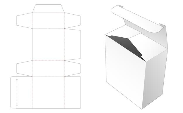 Modelo de caixa de presente recortada