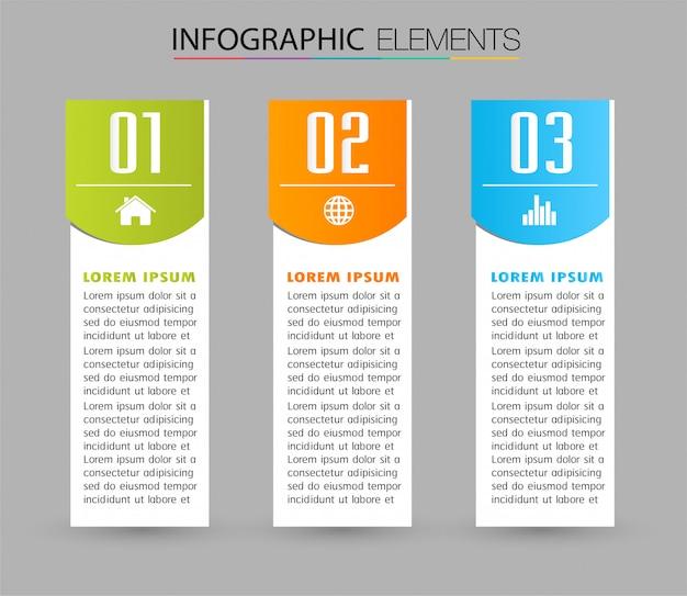 Modelo de caixa de texto de papel, banner infográficos