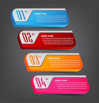 Modelo de caixa de texto de papel moderno, banner de bolha do discurso 3d infográfico