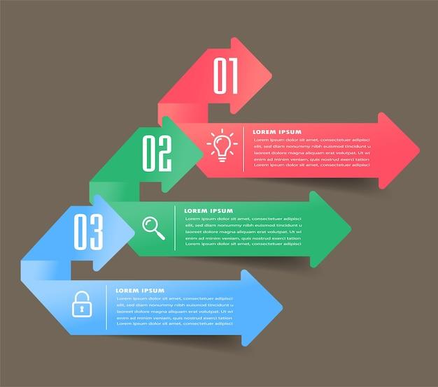 Modelo de caixa de texto moderno, banner de infográficos, linha do tempo