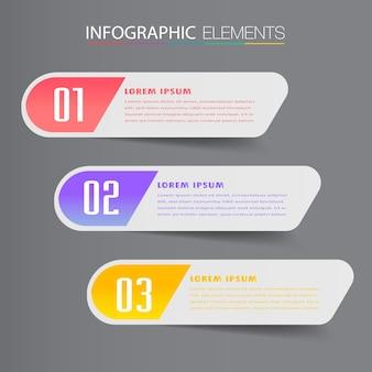 Modelo de caixa de texto moderno, banner infográficos