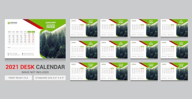 Modelo de calendário 2021