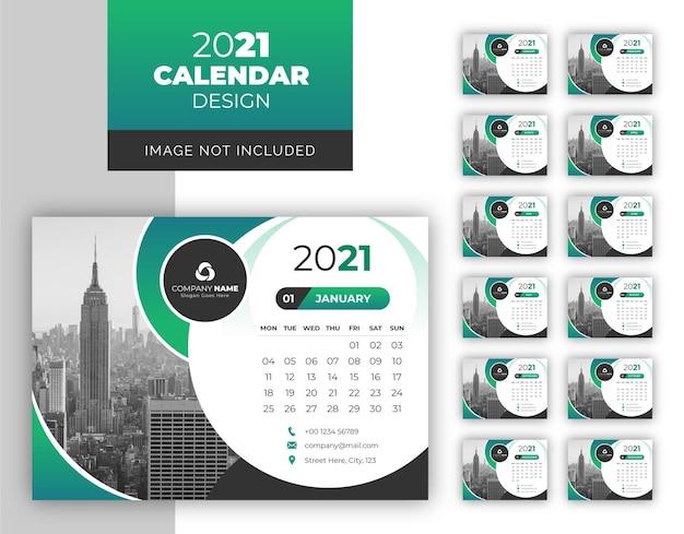 Modelo de calendário de design moderno