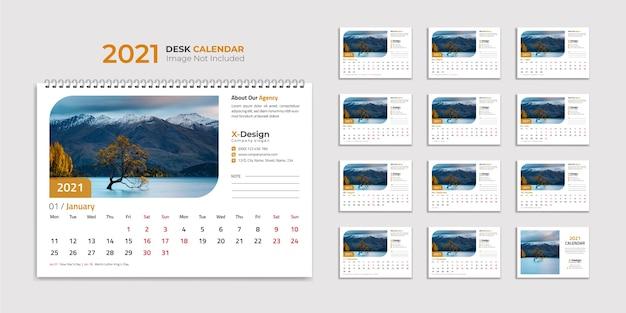 Modelo de calendário de mesa, calendário