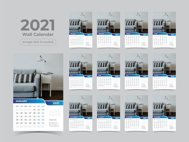 Modelo de calendário de parede