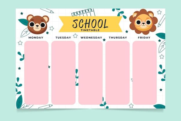 Modelo de calendário de volta à escola