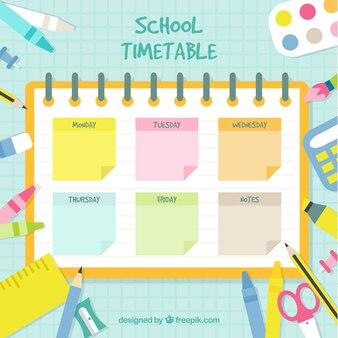 Modelo de calendário escolar em estilo simples