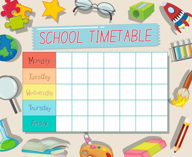 Modelo de calendário escolar