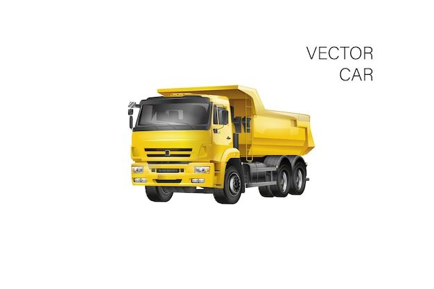 Modelo de caminhão isolado no branco. disponível separado por grupos e camadas. caminhão ilustração carro realista