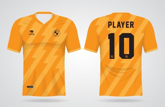 Modelo de camisa amarela de esportes para uniformes de equipe e camisetas de futebol