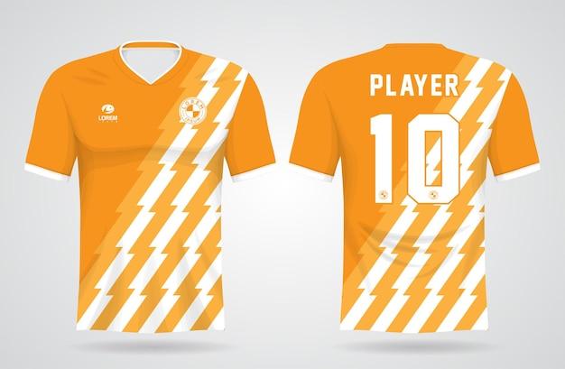 Modelo de camisa amarela de esportes para uniformes de equipe e design de camisetas de futebol