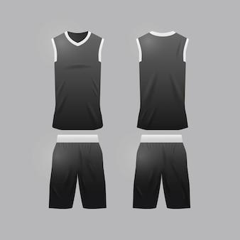 Modelo de camisa de basquete