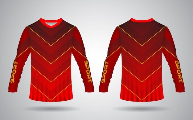 Modelo de camisa de esporte de motocross e bicicleta
