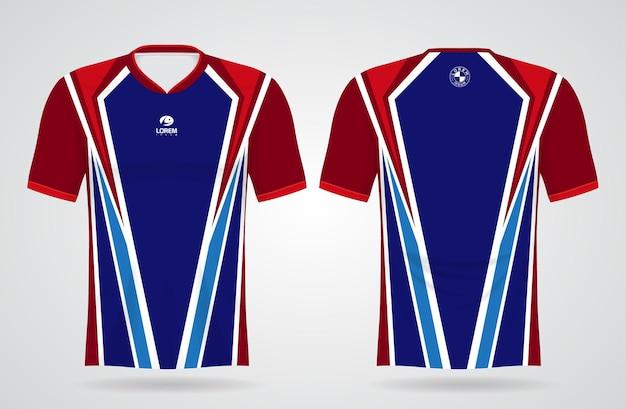 Modelo de camisa de esporte e jogador para design de uniformes de equipe