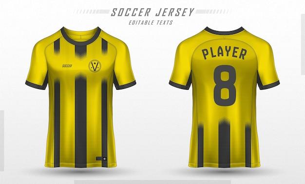 Modelo de camisa de futebol com design de camiseta esportiva