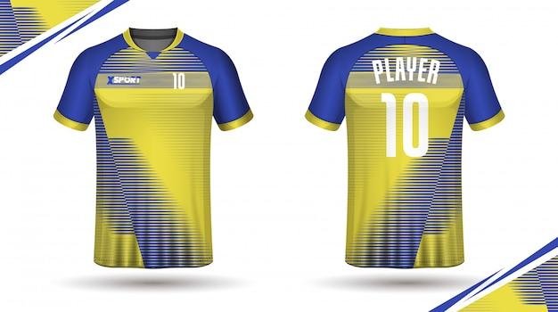 Modelo de camisa de futebol esporte camiseta