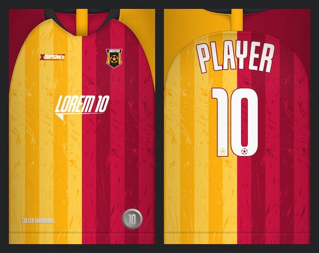 Modelo de camisa de futebol esporte design de camiseta