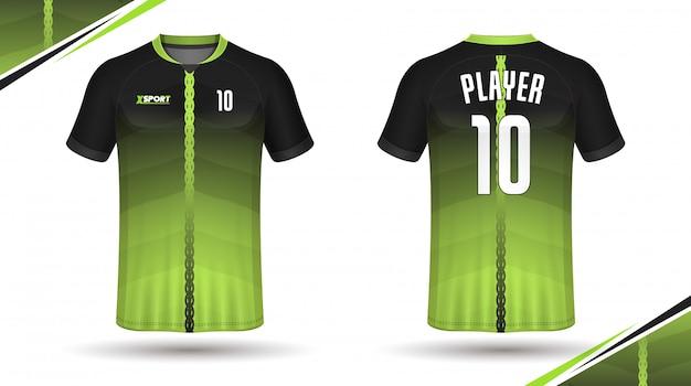 Modelo de camisa de futebol esporte design de t-shirt