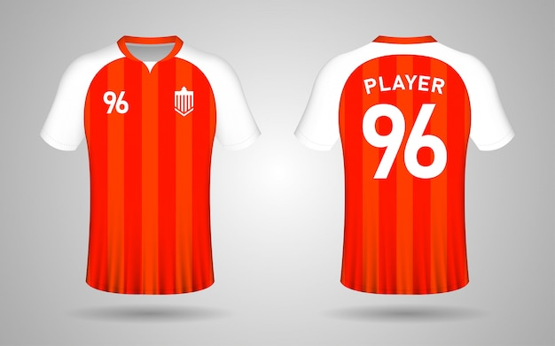 Modelo de camisa de futebol laranja