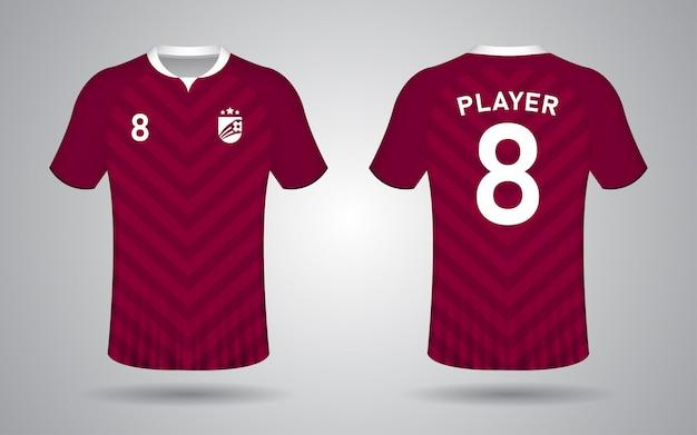Modelo de camisa de futebol marrom
