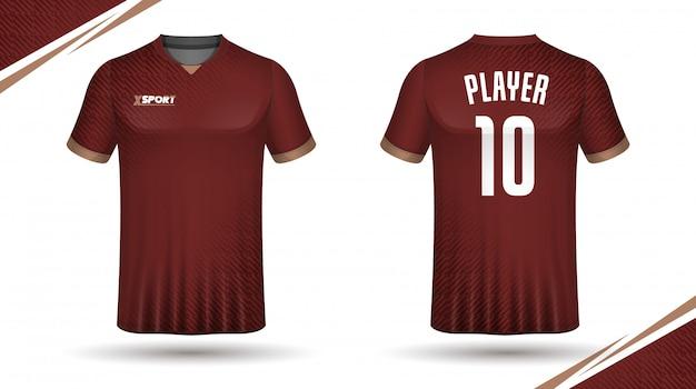 Modelo de camisa de futebol modelo de camiseta de esporte