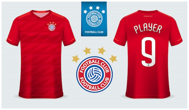 Modelo de camisa de futebol ou kit de futebol