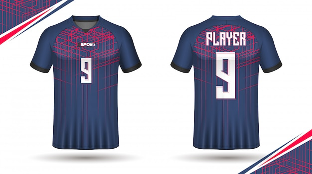 Modelo de camisa de futebol