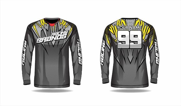 Modelo de camisa de motocross, design de camisa de corrida