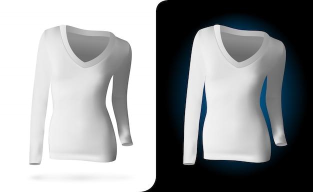 Modelo de camisa de mulher