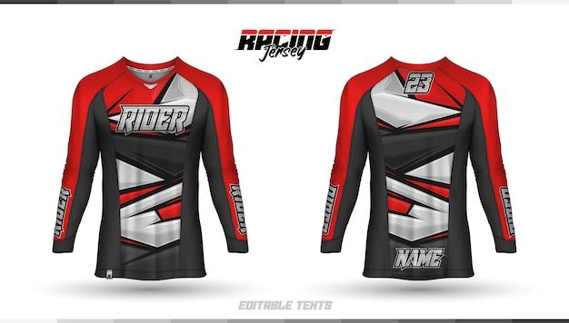 Modelo de camisa, design de camisa de corrida, camisa de futebol