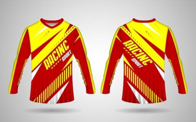 Modelo de camisa esportiva, modelo de camisa de motocicleta