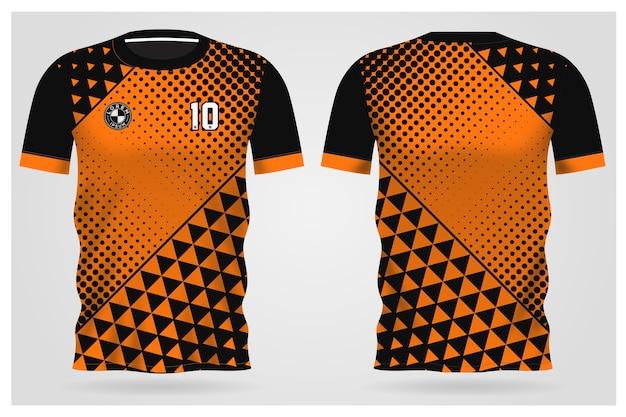 Modelo de camisa esportiva para uniformes de equipe e design de camisetas de futebol